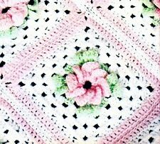 Vintage Baby CROCHET PATTERN TO MAKE Victoria Afghan Shawl Blanket Bear Toy COPY