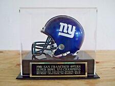 Football Mini Helmet Case With A San Francisco 49ers Super Bowl 16 Nameplate
