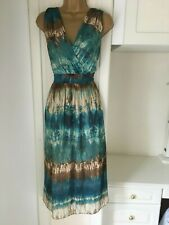 """Wallis size uk 14 lined chiffon camoflage print dress in ex con bust 38"""""""