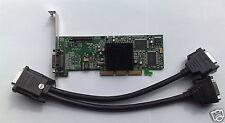 PLEINE HAUTEUR Dual MATROX G550 32 mo AGP g55madda32db CARTE GRAPHIQUE AVEC DVI