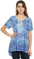 Blue Leaves Wave Soft n light weight One By One Print Sublimation Print SVT-R346