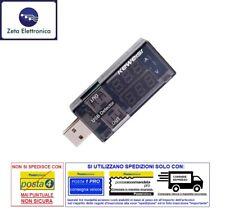 VOLTMETRO AMPEROMETRO USB TESTER LETTURA MISURA DI TENSIONE CORRENTE RILEVATORE
