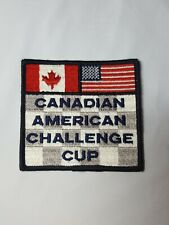 """Vintage CAN-AM Challenge Cup Embroidered Sew-On Patch 3.5"""" Road Racing Canadian"""