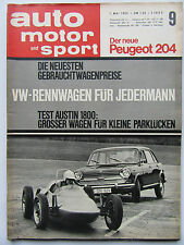 Auto Motor Sport 9/1965,  Peugeot 204, Austin 1800, Ferrari DINO 166