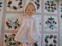 """NO DOLL MADAME ALEXANDER BABY DOLL PINK  SMOCKED DRESS & BOOTIES 14"""""""