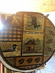 CABIN LODGE 5X5 ROUND RUG FOR THE HOME ~NEW~