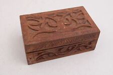 Carved Wood Wooden Box Made in India (C2L)