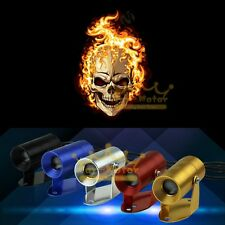 3D Flaming Ghost Rider Skull Logo Motorcycle Laser Projector LED Light Universal