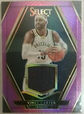 2015-16 SELECT SWATCHES VINCE CARTER PURPLE PRIZM  JERSEY PATCH /75
