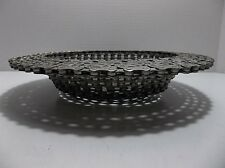 Steampunk Metal Bicycle Chain BOWL Art Sculpture INDUSTRIAL 10""