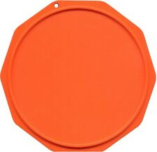 3 motorcycle kickstand side stand plate pad support, ORANGE, Motorcycle Coaster®