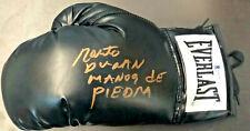 Roberto Duran Autographed Boxing Glove Manos de Piedra - Beckett BAS Witnessed