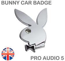 Bunny Rabbit Bling Chrome Car Truck Van Badge - Universal