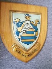 HERALDRIC COAT OF ARMS FAMILY SURNAME CREST PLAQUE Shield HOLMES