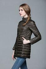 Damen Ultralight lange Daunen jacke Daunen mantel Übergangs Jacke Stepp jacken