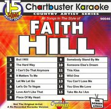 Chartbuster Karaoke Country Artist Karaoke CD+G Faith Hill v. 1 15 Song cdg NEW