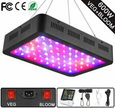 WAKYME 600W LED Plant Grow Light, Adjustable Full Spectrum Double Switch NEW