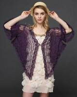 Sheer BOLERO SHRUG Handcraft cape mantle Top amice exquisite cloke 8-20 12 14 16