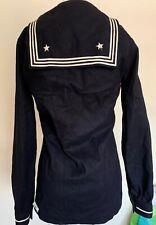 Military Memorabilia. Vintage Navy Uniform Pull Over Jacket Navy Blue