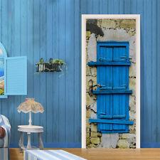 3D Blue Gate Rock 789 Door Wall Mural Photo Wall Sticker Decal AJ WALLPAPER US