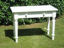 White Painted Pine Table Drawer Turned Legs Kitchen Furniture Can Be Dismantled