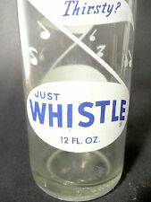 vintage ACL Soda POP Bottle: WHISTLE (label variation) CONNELLSVILLE, PA 12 oz