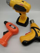 fisher price , black n deck, CAt lot of 3 toy drills