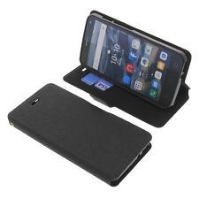 Funda para Alcatel One Touch Pop 4 Book Style Funda Protectora Gadget Negro