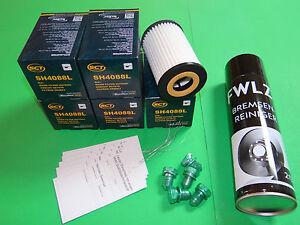 5x Ölfilter + Bremsenreiniger Skoda Octavia (5E) 2.0 TDI (81-135kW)