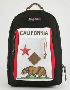 JanSport Reilly Red New California Republic Bear Backpack RARE NEW!