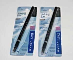 LOT/2 Maybelline Expert Wear Defining Liner Eyeliner Ebony Black 201 SEALED