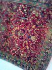 Hand knotted wool Oriental carpet. 3x5 Sarouk