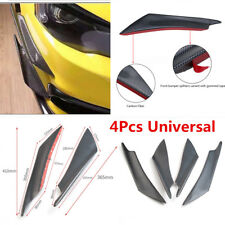 Car Front Bumper Splitter Fins Spoiler Canards Carbon Fiber Color Anti-scratch