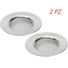2x Filtro scarico lavello cucina bagno doccia lavandino bidet universale maglia