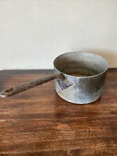 More details for antique old large heavy copper saucepan pan vintage cookware