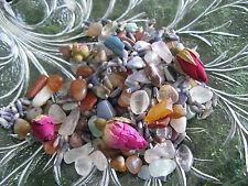 "New Fairy Garden ""Secret Treasure"" Tiny Natural Gemstones, Lavender & Rose Mix"