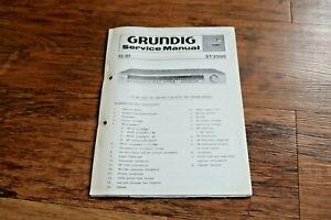 2 x GRUNDIG ST 2000 Vintage Retro HiFi SERVICE MANUAL 1980/1