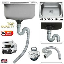 Campervan Small 43cm Steel Motorhome Sink + Waste Kit Ideal Self Build Camper