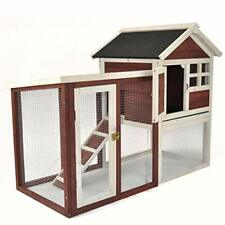 Stilt House Rabbit Hutch Farmhouse Red Auburn (1-2 Rabbits)