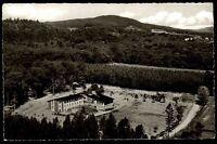 Horn Lippe s/w Postkarte 1963 Blick auf die Jugendherberge im Wald Luftaufnahme