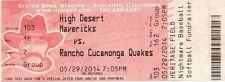 HIGH DESERT MAVERICKS VS RANCHO CUCAMONGA QUAKES-5/29/2014-FULL TICKET