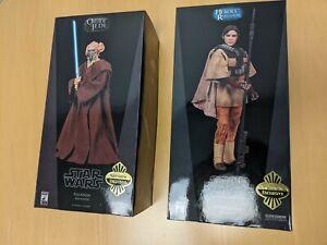 Star Wars 1/6 Princess Leia Boush Exclusive and Plo Koon Exclusive