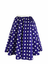 Ladies Polka Dot Skirt & Scarf  Rock & Roll Fancy Dress 50'S Jive Costume