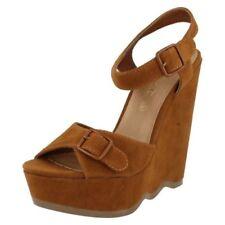 Zapatos de tacón de mujer de color principal marrón ante talla 37