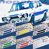 Scalextric/Slot Car 1/32 'Escort RS2000' Waterslide Decals - 6 Colour Options