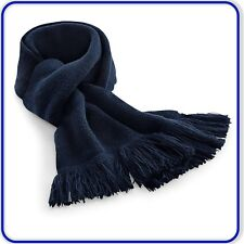 Good Quality Mens Womens Beechfield Classic Knitted Scarf Double Layer Knit