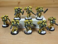 8 PLASTIC WARHAMMER IMPERIAL FISTS ASSAULT MARINES WELL PAINTED (1452)