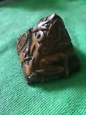 Vintage Bas Relief Stylized Art Pyramid Egyptian