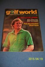 1982 Golf World US OPEN Johnny MILLER  No Label Starts Year With The JACKPOT
