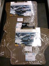 BMW OEM Beige/Tan Rubber Floor Mats 2004-2010 E60 Sedans E61 Wagons 82550302998
